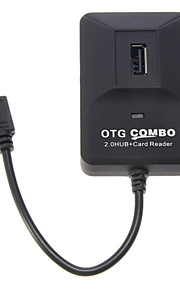 OTG Smart Multi Fcuntion Combo voor Smart Phone & Pad (2.0 HUB + Card Reader)