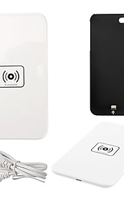 Qi Wireless Charger White Charging Pad with Black Receiver for iPhone 5