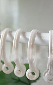Klassisk hvit gardin Clip Ring (diameter 3,5 cm) Sett med 5