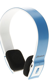 8086 Bluetooth Headset Music On-ear øretelefoner for Iphone Ipad Computer (Blå)