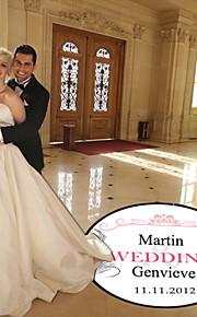 arredamento matrimonio piuma personalizzato pista da ballo decal (più colori)
