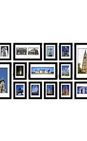 15の黒の写真入り壁掛けフレームコレクションセット
