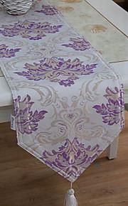 1 Púrpura Algodón Compuesto Rectangular Corredor de Tabla