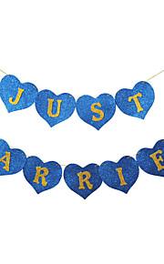 """""""Gifta"""" vintage Glisten Sponge Paper Wedding Banner - Set med 13 stycken (Fler färger, 2M Rep ingår)"""