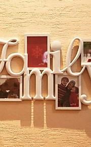 4の白表示写真入り壁掛けフレームコレクションセット