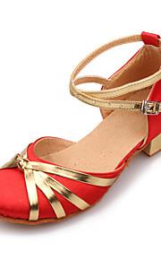 Femmes et satin cheville Stripe Chunky Chaussures talon de danse pour enfants (plus de couleurs)