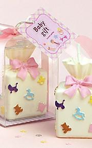 Bougie en forme de boîte-cadeau (plus de couleurs)