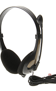 620 3.5mm High Quality Sound On-ear hodetelefon headset med mikrofon for Computer (Gold)
