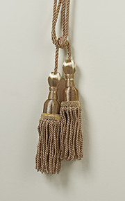 Classic Brown Polyester Tassel (One Pair)