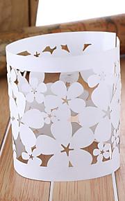 Tema Floral ahueca hacia fuera la boda de la servilleta de papel Anillos - Juego de 12
