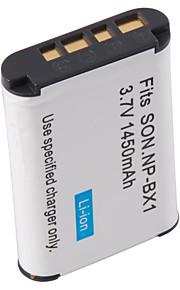 DSTE NP-BX1 udskiftning 1450mAh Batteri til Sony RX100 - grå