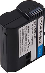 digital video batteri erstatte Nikon EN-EL15 til Nikon D7000, D800 og mere (7v, 2550 mAh)