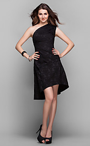Cocktail Party / Prom / Holiday Dress - Plus Size / Petite A-line One Shoulder Asymmetrical Satin