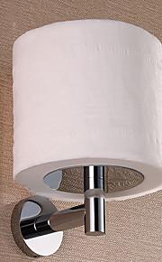Laiton argenté Porte-papier Toliet cylindrique, 3 pouces x 4,5 pouces x 6 pouces
