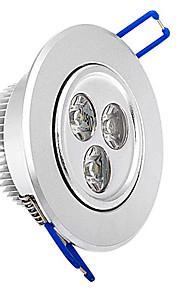3 W 3 High Power LED 315 LM Warm White Recessed Retrofit Ceiling Lights AC 220-240 V