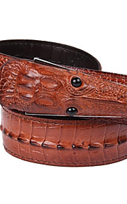 Herrenmode Crocodile Design Vintage Kuh-Leder-Gürtel