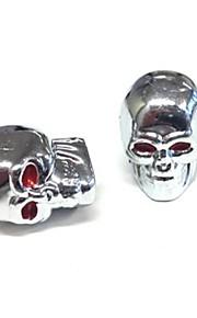 Skull Style Mini Quad Borde tapones de las válvulas del tubo 4 piezas Novedades para Coche Moto Dirt Pit cubierta de válvula del neumático de la bici
