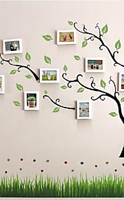 White Photo Frame Set of 10 with Wall Sticker