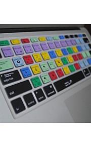 """coosbo® ps teclas de acceso directo de silicona piel de la cubierta del teclado para 13.3 """", 15.4"""", 17 """"pro macbook air / retina"""