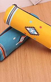 Cylindrisk Pen Bag (tilfældig farve)