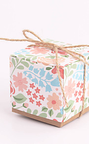 Colorsful Cubic Brown Paper Faovr Boxes - Set of 12