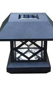 White Cap de poste solaire pont lumière clôture montage lampe de clôture de jardin en plein air