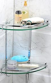Prateleiras do banheiro material de aço inoxidável acabamento cromado