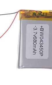 3.7V 680mAh Lithium Polymer batterij voor mobiele telefoons MP3 MP4 (4 * 34 * 50)