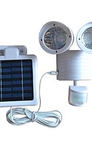 Motion Sensor 22-LED de sécurité Flood lumière solaire corps de couleur blanche à double tête