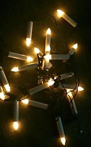 Powered LED fées de noël chaîne de lumière de bougie solaire 20 a mené la lampe extérieure de jardin lumière de corde de Noël