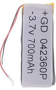 3.7V 700mAh Lithium Polymer batterij voor mobiele telefoons MP3 MP4 (4 * 23 * 60)