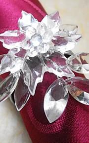 Poinsettia Kristallserviettenring In Multi-Farben, Acryl Beades, 3.5CM, Set 12,