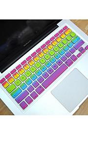 """coosbo® silicona arco iris piel de la cubierta del teclado para 11.6 """", 13.3"""", 15.4 """", 17"""" mac macbook air pro / retina"""