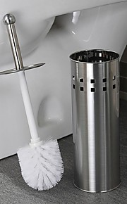 Orange® Bath Accessory Set Stainless Steel Toilet Brush Holder 1Pcs D11.5*H42CM