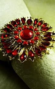 Kristallsonnenblumenserviettenring, Acryl beades, 4,5 cm, 12er Set,