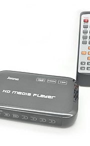 Jesurun JK04 1080p full hd media player met hdmi / usb / sd / av / YPbPr / vga (zwart)