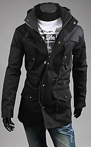 Men's Hoodie Slim Drawstring Waist Jacket