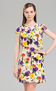 Jianzi Women's 100% Silk  Print Dress