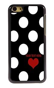 gepersonaliseerd geval mooie puntjes patroon metalen behuizing voor de iPhone 5c