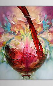 peintures à l'huile moderne d'un panneau de toile nature morte tasse de vin peint à la main prêt à accrocher