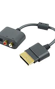 generisk optisk RCA-adapter konverter kabel ledning til Microsoft Xbox 360-konsol spil