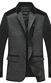 Men's  Pure Lined Cotton Long Sleeve Blazer