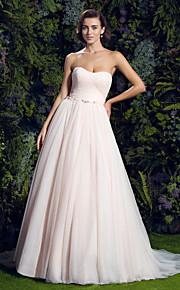 Lanting Bride® Trapèze Petites Tailles / Grandes Tailles Robe de Mariage  Colorées Traîne Tribunal Coeur Tulle avec