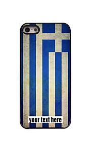 gepersonaliseerd geval vlag van griekenland ontwerp metalen behuizing voor de iPhone 5 / 5s