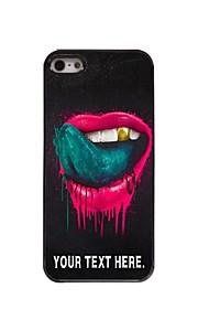 gepersonaliseerd geval de lip en de tong ontwerp metalen behuizing voor de iPhone 5 / 5s
