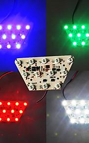 4-colores de la lámpara de señal de freno de bricolaje a su vez de la cola de color ámbar claro luz motocicleta