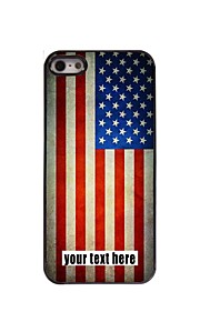 personlig sag amerikanske flag design metal etui til iPhone 5 / 5s