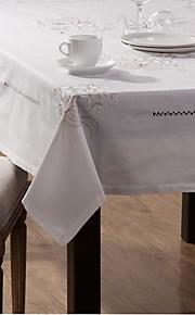 set van zes kleine linnen servet doek en een grote linnen tafelkleed