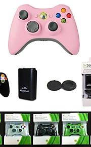 Microsoft Wireless controller spil fjernbetjening + batteri + silikone sag + 4in1 oplader passer til Microsoft Xbox 360