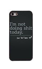 gepersonaliseerd geval doe ik niet stront ontwerp metalen behuizing voor de iPhone 5 / 5s